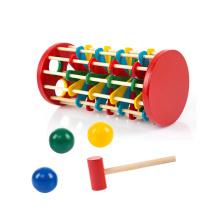 Juguete de golpe tridimensional de madera para el juguete educativo de madera del cabrito