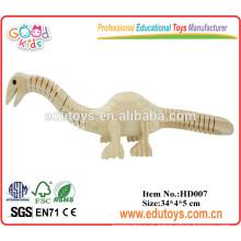 El juguete hecho a mano de la guardería DIY juega el dinosaurio de madera del juguete