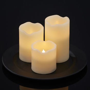resin LED candle set