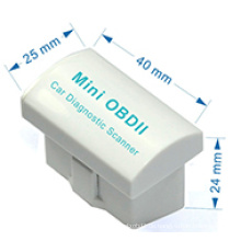 Weiße Super-Mini OBD2 Bluetooth Elm327 Auto Diagnose-Scanner V2. 1 Universal OBD2 Diagnose-Tool arbeiten auf Android Windows