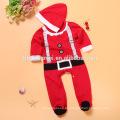 La Navidad recién nacida de dos colores viste el mameluco grueso del bebé del invierno del algodón