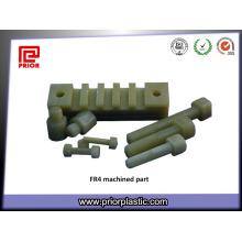 Piezas trabajadas a máquina CNC por el material de fibra de vidrio Fr4 G10
