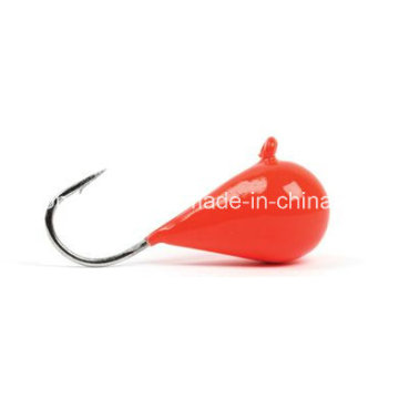 Red Tungsten Eisfischen Jigkopf aus China Hersteller