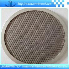 Disco de filtro de acero inoxidable de forma redonda