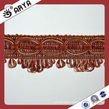 Stock and Cheap Curtain Tassel Trimming Fringes and Trims Gimp for Sofa and Cushion Cover