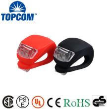 Luz estroboscópica 2 LED luz colorida luz frontal da bicicleta