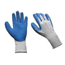 10g Polyester Liner Rough Finish Latex Work Glove