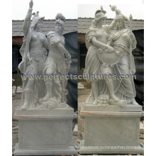 Резная каменная статуя для скульптуры сада мрамора (SY-X1437AB)