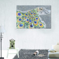 Peacock Womens Canvas Printing / Abstract Living Room Decoration / dropshipping Peinture à l'huile Art