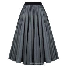Kate Kasin Elegante cintura elástica plisada una línea de falda KK000663-1