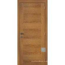 Puerta de entrada de madera rústica del diseño de la puerta casera, puerta de entrada de madera rústica