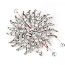 Gets.com zinc alloy crystal rhinestone brooch pin for wedding bouquet