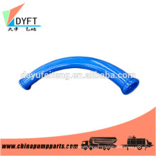 Double layer putzmeister concrete pump pipe elbow for concrete pump truck