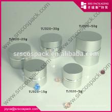 China Bela Forma Rodada Creme Jar Feito de Alumínio, Garrafa de Alumínio Atacado