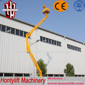 12 m CE barato venta china Cherry picking boom lift / plataforma de elevación de limpieza de aire