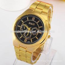 2015 nouvelle arrivée 3 petite décoration en cadran 5 couleurs montres en or pour hommes
