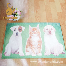 New Kind short plush printed carpet with nonwoven backing