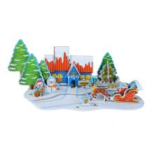 Quebra-cabeça 3D feliz Natal