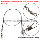 Top Quality Barrel Swivel with Interlock Sanp and Wire Leader