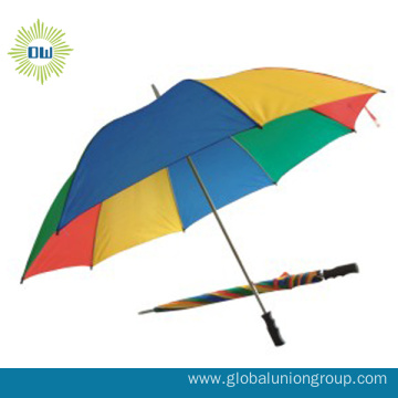 Good Quality Sun-Rain Rainbow Golf Umbrella
