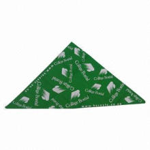 Scarf with Fashionable Printing and Triangle Shape, Made of Polyester Poplin Fabric