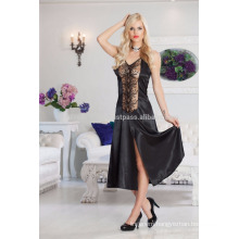 Jasmin Lingerie Lace and Satin Long Nightwear