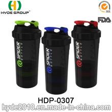 500ml BPA frei Kunststoff Spider Shaker Flasche, Kunststoff Protein Shaker (HDP-0307)