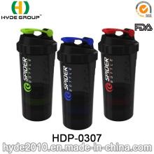 500ml BPA Free aranha plástica Shaker garrafa, garrafa de plástico de proteína Shaker (HDP-0307)