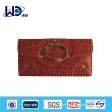 Portefeuille en cuir véritable de marque pour dames