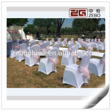 Hot Selling Wedding Used Organza Fabric Colorful Cheap Flower Chair Sash