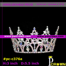 Small round pink queen pageants tiara crown