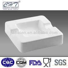 Durable hot sale white porcelain square cigar ashtray