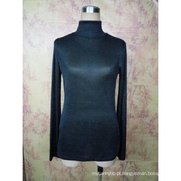 Senhoras feitas sob encomenda do pescoço da tartaruga cabida magro da forma e partes superiores da menina