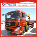 Chinese brand 8x4 hydraulic boom truck with crane