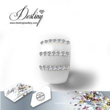 Destino los cristales de la joyería de Swarovski anillo nuevos anillos de cerámica