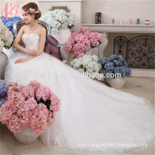 White bridal Custom made Elegant long ball gown Princess Wedding Dress