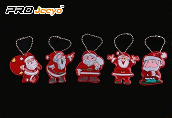 Reflective Leather Santa Claus With Gifts Bag Pendant Rv 213a 4