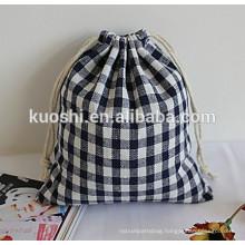 Cotton collapsible drawstring bag