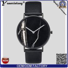 YXL-072 мрамора лицом кожа Часы Часы продвижение кварц Men′s наручные часы водонепроницаемые OEM часы повелительницы