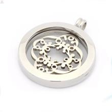 Günstige Silber Medaillon Anhänger, Münze Anhänger für Halsketten