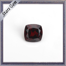 Cushion Deep Red Natural Garnet Gemstone for Jewelry