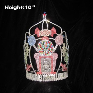 Coronas de concurso de cupcakes de cristal de 10 pulgadas de altura
