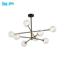 Nordic glass ball shape chandeliers pendant lighting fixture for home