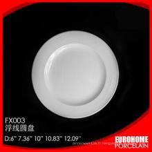 plaque de porcelaine blanche super fine vente directe usine