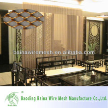 2015 alibaba china manufacture fashionable metal mesh curtain decorative wire mesh