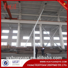 Poteau d'éclairage routier pivotant à charnière ou pliante pliable à bords inclinés ou pliante