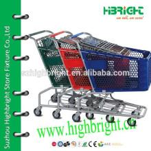 Пластиковая тележка для продуктового магазина