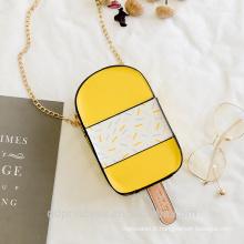 sac 2017 filles épaule sac à bandoulière long jaune sac de créateurs de crème glacée