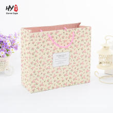 Shopping paper gift tote custom printed handle bag
