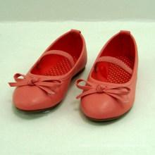 2014 printemps été nouvelles filles élégantes rouge ou bleu ballerine chaussures enfants fête princesse chaussures enfants filles belle chaussures plates